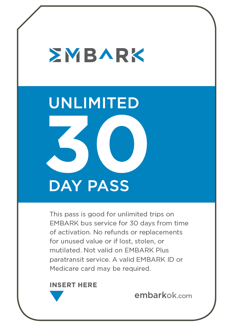 30 Day Unlimited EMBARK Bus Pass