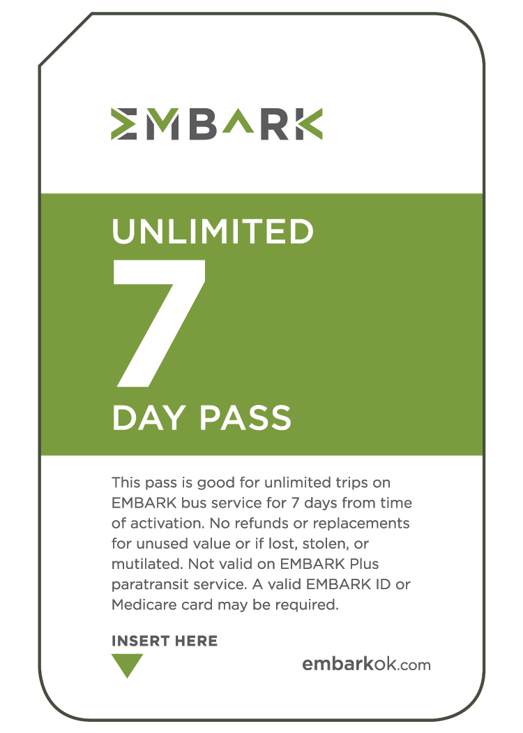 7 Day Unlimited EMBARK Bus Pass