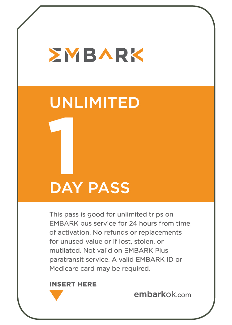 24 Hour Unlimited EMBARK Bus Day Pass